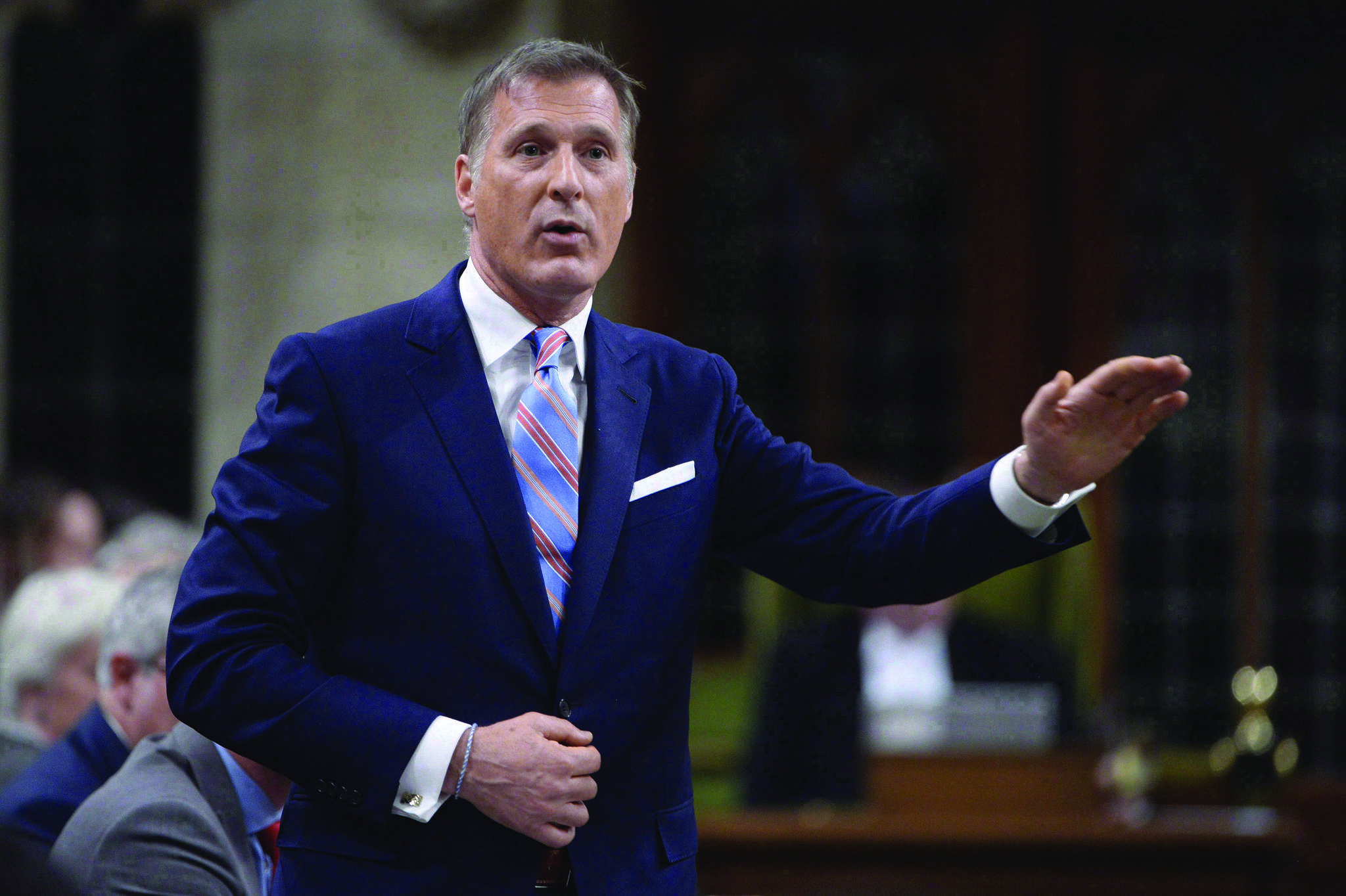 Quebec MP Maxime Bernier is shown during Question Period in the House of Commons in Ottawa on Thursday, Sept. 28, 2017. THE CANADIAN PRESS/Adrian Wyld